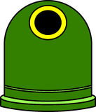 Contenedor verde Royalty Free Stock Image