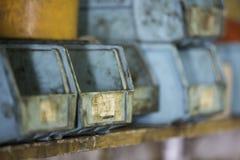 Contenedores de almacenamiento plásticos Fotos de archivo