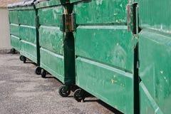 Contenedores de la basura Imagen de archivo libre de regalías