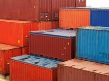 Contenedores para mercancías Fotografía de archivo