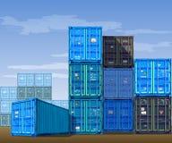 Contenedores para mercancías Foto de archivo