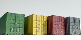 Contenedores para mercancías aislados en blanco libre illustration