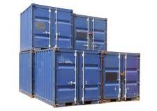 Contenedores para mercancías de la nave. Imagen de archivo