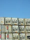 Contenedores refrigerados Foto de archivo