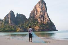 Contenere la rete da pesca fotografie stock libere da diritti