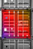 Conteneur 01 noir-blancs multicolores Photographie stock libre de droits