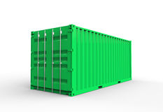 Conteneur de cargaison vert Photographie stock libre de droits