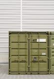 Conteneur de cargaison vert Photos libres de droits