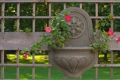 Conteneur de jardin s'arrêtant Image stock