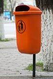 Conteneur pour des déchets images stock