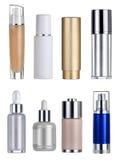 Conteneurs blanc de cosmétiques Images libres de droits