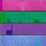 Conteneurs colorés Images libres de droits
