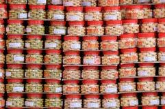 Conteneurs de biscuits chinois Photos libres de droits