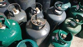 Conteneurs de gaz pour l'usage de ménage photo stock