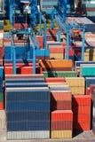 Conteneurs de marchandises de cargaison Photo libre de droits