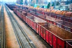 Conteneurs ferroviaires Photographie stock