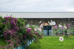 Contenga centro de exposición cultural del municipio de Puli, el condado de Nantou Thao al lado de Imágenes de archivo libres de regalías