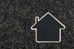 Contenga el indicador, las mentiras del precio en la semilla de girasol Imagen de archivo libre de regalías