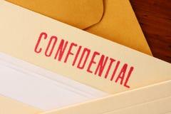 Contenido confidencial Fotografía de archivo libre de regalías