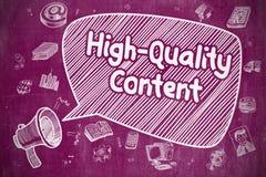 Contenido de alta calidad - concepto del negocio en burbuja del discurso libre illustration