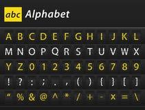 Contenido de la tabla del alfabeto inglés de ABC Imagen de archivo libre de regalías