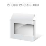 Contenitore bianco di pacchetto del prodotto vettoriale con la finestra Immagine Stock Libera da Diritti
