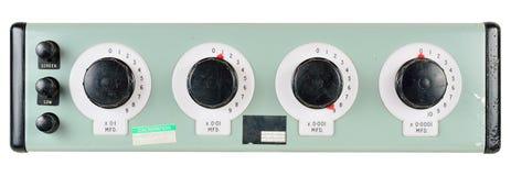 Contenitore calibrato di condensatore di decade Immagini Stock Libere da Diritti