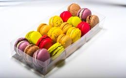 Contenitore colorato di maccherone Fotografia Stock
