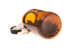 Contenitore con le pillole Immagine Stock