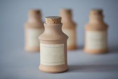 Contenitore d'annata dell'argilla Fotografia Stock Libera da Diritti