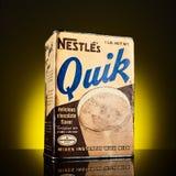 Contenitore d'annata di latta di Nesquik Fotografia Stock Libera da Diritti