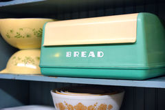 Contenitore d'annata di pane della bachelite Fotografia Stock Libera da Diritti