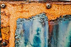 Contenitore d'arrugginimento Grungy del metallo Fotografia Stock Libera da Diritti