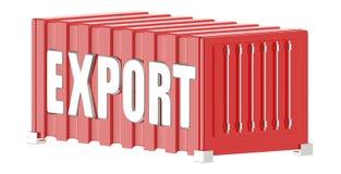 contenitore 3d con il testo dell'esportazione in  illustrazione vettoriale