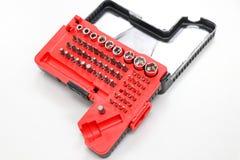 Contenitore del cacciavite o di strumento per la riparazione e la manutenzione Immagini Stock