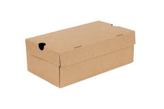Contenitore del cartone della scatola di cartone Fotografia Stock