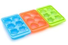 Contenitore del cubo di ghiaccio Fotografie Stock