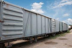Contenitore del treno Immagini Stock