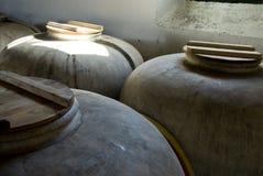 Contenitore dell'argilla Fotografie Stock