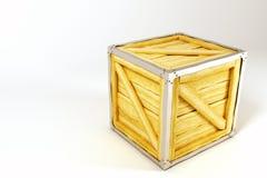 Contenitore della casella di legno Fotografia Stock Libera da Diritti