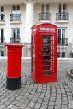 Contenitore della posta e di telefono Fotografia Stock
