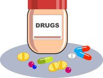 Contenitore delle droghe Immagini Stock Libere da Diritti