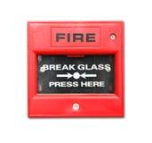 Contenitore di allarme antincendio Immagine Stock Libera da Diritti