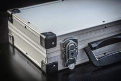 Contenitore di alluminio di cassa del metallo Fotografie Stock Libere da Diritti