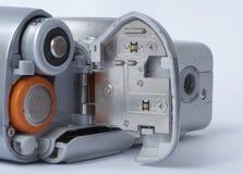 Contenitore di batteria sulla foto Fotografie Stock