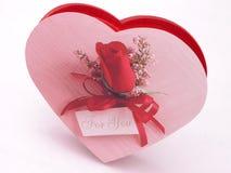 Contenitore di caramella dei biglietti di S. Valentino - sono aumentato 2 fotografia stock libera da diritti