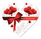 Contenitore di caramella del cuore di figura di giorno del biglietto di S. Valentino Fotografia Stock Libera da Diritti