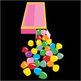 Contenitore di caramella della giuggiola Immagini Stock Libere da Diritti