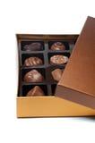 Contenitore di caramelle di cioccolato Immagini Stock Libere da Diritti