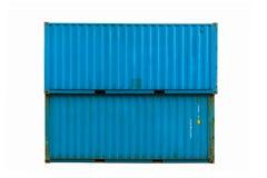 Contenitore di carico blu Fotografie Stock